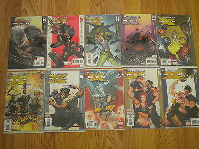 Marvel Comics Lot of 10 Ultimate X-Men Issues 59 60 61 62 64 65 67 68 69 70