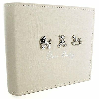 "Bambino by Juliana Linen Fabric Photo Album Holds 4""x6"" (CG919)"