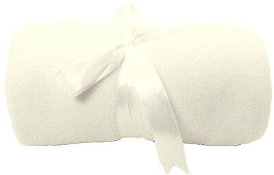 White Green Blue Pink Plush Baby Blanket with Satin Trim Gracias Xmas Day Gift