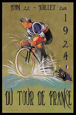 Tour de France Bicycle Bike Cycles 1924 Race French Vintage Poster Repro FREE SH