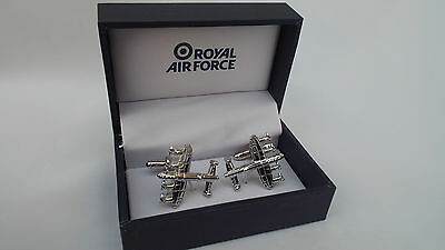 RAF Royal Air Force Lancaster Aircraft Plane  Cufflinks ~ Gift Boxed
