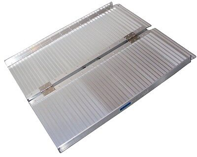 91cm/3ft Folding Aluminium Wheelchair Ramps. SCOOP PURCHASE. Cheapest in the UK!