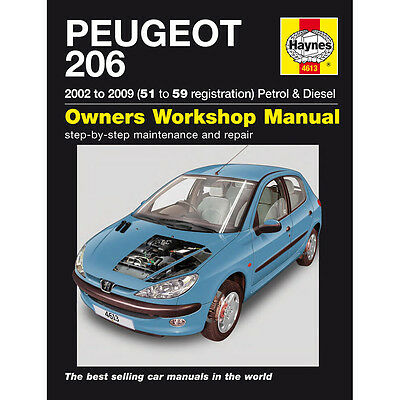 Peugeot 206 1.1 1.4 1.6 2.0 Petrol 1.4 2.0 TD 02-06 (51 to 06 Reg) Haynes Manual