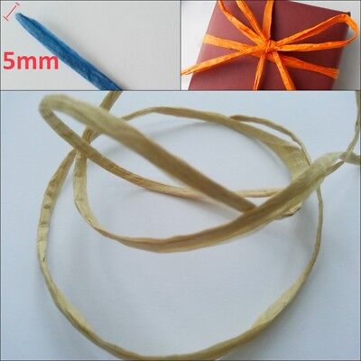 Raffia Paper Ribbon 28 Colours 100m decorating flowers gifts crafts scrapbooks