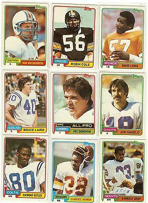 1981 Topps Football you pick commons 12 picks for $2.00 N M cond. and better