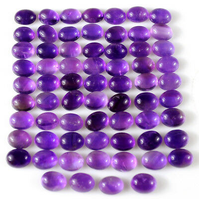 150 Cts 100% Natural African Purple 9Mm Caliberated Oval Cabochon Amethyst Lot