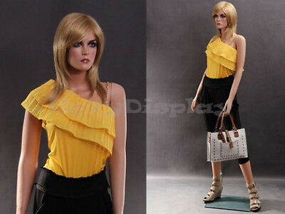 Female Realistic Skin Fiberglass Mannequin Display Dress Form #MZ-LISA2+FREE WIG