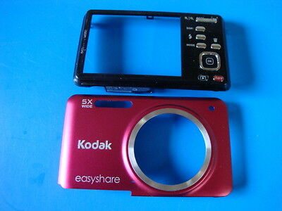 KODAK EASYSHARE M5350 RED FRONT & BACK CASES FOR REPLACEMENT REPAIR PART