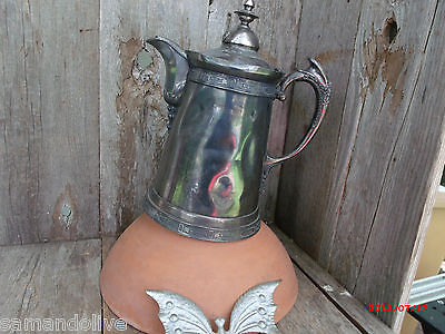 Marvelous Meridian Quadruplate  Pitcher needs TLC Cottage Style silverplate