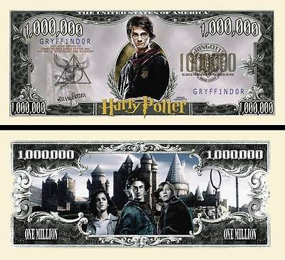 A VOIR! HARRY POTTER BILLET de collection 1 MILLION de DOLLAR USA ! Collector