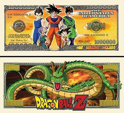 DRAGON BALL Z BILLET de COLLECTION 1 MILLION de DOLLAR USA ! Série Manga