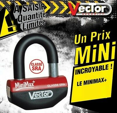 Antivol moto Scooter SRA Mini U Bloque disque HOMOLOGUE VECTOR MINIMAX