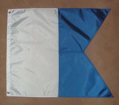 2 NEW Dive Boat Flags (alpha) 720 X 600 and 350 X 300