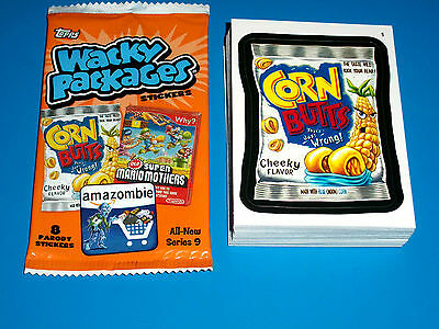 2012 Wacky Packages Ans9 Complete 55 Card Set + Wrapper