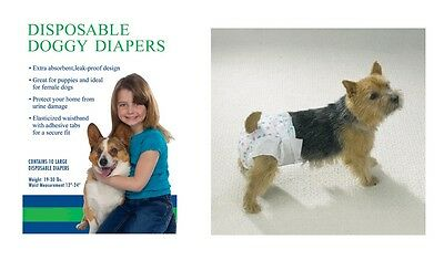 Disposable Doggie Diapers - Dog Diaper Bulk Packs - FREE Shipping to USA !