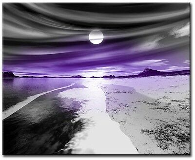 Pearl Purple 60x40cm Large wall art canvas print artwork framed home living room