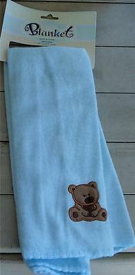 "NEW WITH TAGS 28"" by 28"" Fleece Baby Receiving Blanket, 100% Polyester, SOFT"