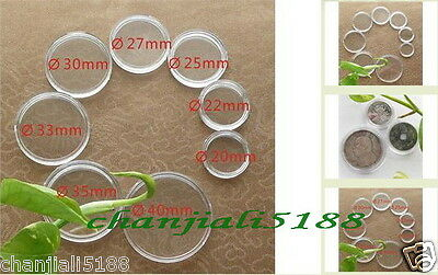 160 pcs Crystal Coin Holders Box / 8 Size