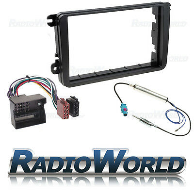 VW Golf MK5 MKV Double Din Stereo Fitting Kit Facia/Wiring/Adaptor Fascia Panel