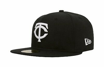 b4893f973 NEW ERA MINNESOTA Twins 5950 Black Youth Fitted Hat Official Kid's ...