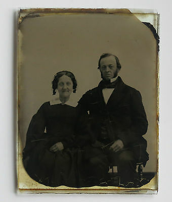 1855 - 1857  1/4 Double Plate Ambrotype Photograph of Couple