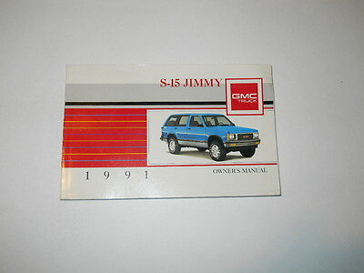 1991 GMC S-15 Jimmy  Owner's Manual Owners  Truck