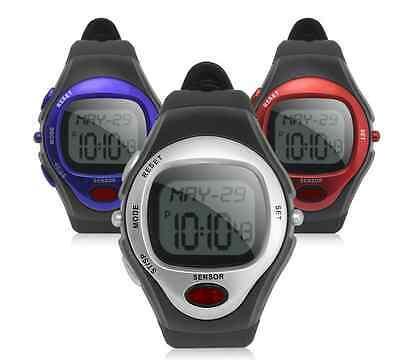 Watch Pulse Heart Rate Monitor Sports Alarm Fitness Red Blue Black