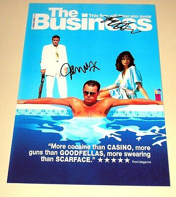 """The Business Pp Signed 12""""x8"""" Poster Danny Dyer N2"""