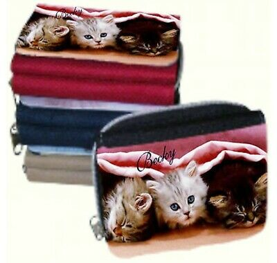 Personalised Ladies Purse Kittens Picture or Add your Own Photo & Name - GIFT