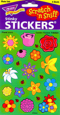TREND Garden Flowers (FLORAL SCENTED ) Scratch and Sniff reward Stickers n'