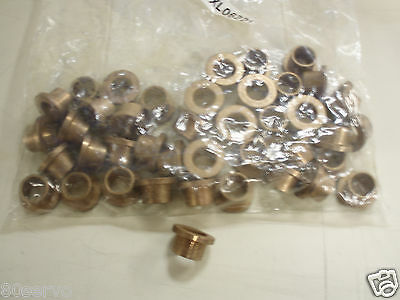 "Bronze Bushing Flanged Mxl06221   0.500"" Id & 0.625"" Od   ( Lot Of 41 Bushings )"