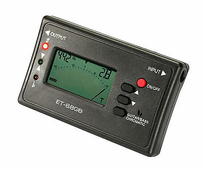 Electric Acoustic & Bass Guitar Digital Chromatic Tuner w/Mic Musical Instrument