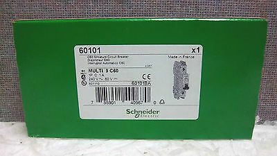 Schneider Electric Multi 9 C60 Mini Circuit Breaker 60101 New 60101