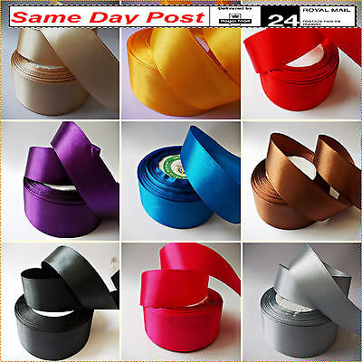"Satin Ribbon 25mm, 1"" wide 25m Rolls, 2m to 100m For Cake Decorations, Crafts"