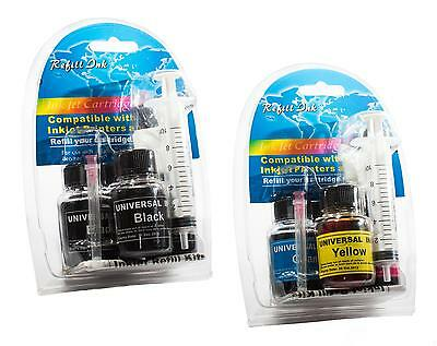 Canon PG540 CL541 Ink Cartridge Refill Kit for Pixma MG3150 MG3250 Black Colour
