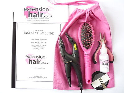 PRE BONDED HEAT CONNECTOR DIY KIT step by step MANUAL  HAIR EXTENSION TOOLS