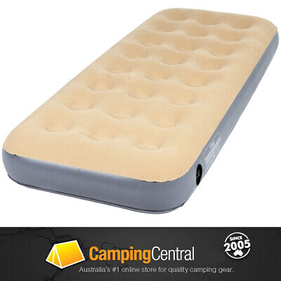 OZtrail SINGLE Inflatable Velour Air Bed Mat Mattress Blow Up