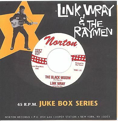 LINK WRAY The Black Widow / Mustang 7-INCH NORTON LINK WRAY AND THE RAYMEN