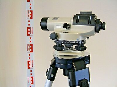 DUMPY LEVEL, Automatic Optical Site Level: model FAL20 including Tripod & Staff