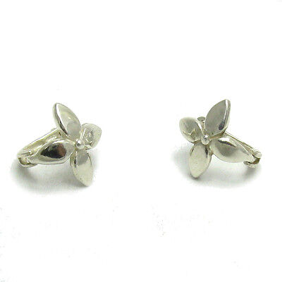 Small Sterling Silver Earrings Flowers Solid 925 E000525