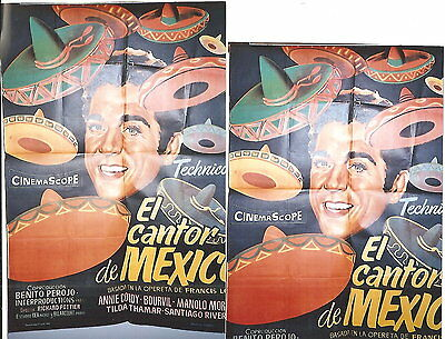 "Luis Mariano Affiches Made In Espagne "" El Cantor De Mexico""avec Annie Cordy+Bou"