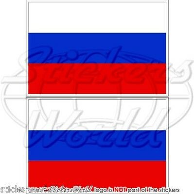 "RUSSIA Russian Federation Flag Vinyl Bumper Stickers, Decals 3"" (75mm) x2"