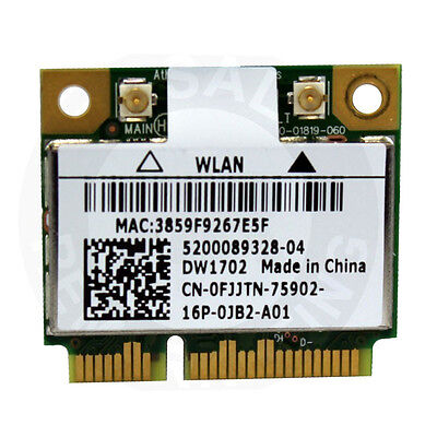 Dw1501 wireless-n wlan half-mini card