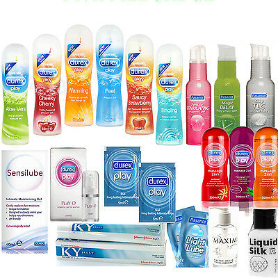 DUREX Play, Pasante Delay, KY Jelly, Tingle, Sensilube, Feel, Lubricants, Lube O