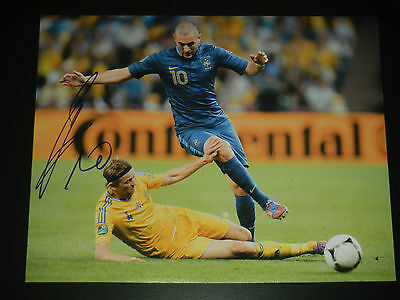 Real Madrid - France - Karim Benzema Signed Euro Cup 2012 11X14