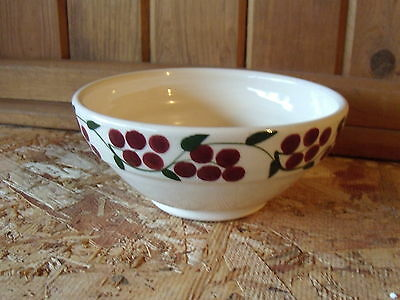 Mill Creek Stoneware Bowl, Cranberry or Cherry Design, signed by Pat Fleming