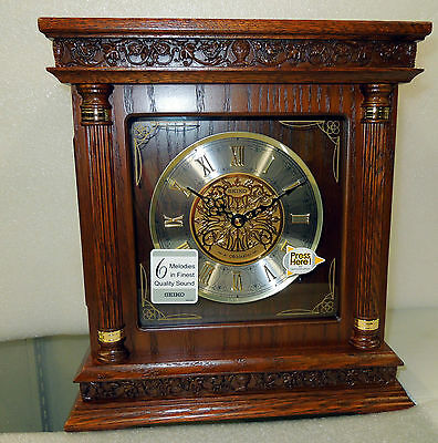 Seiko Square  Melody In Motion Mantle Clock With 6 Different Melodies Qxw224Blh