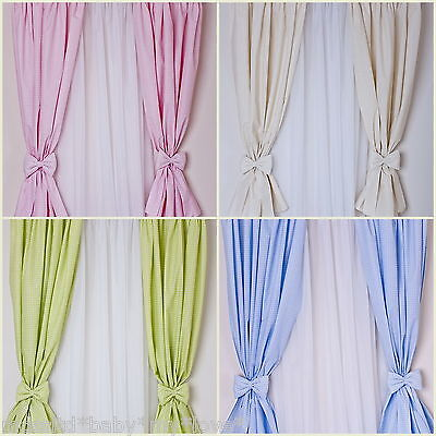 LOVELY  DECORATIVE CURTAINS FOR BABY'S ROOM IN 6 colours