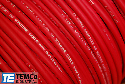 WELDING CABLE 6 AWG RED 150' FT BATTERY LEADS USA NEW Gauge Copper