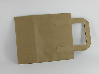 Recycled Medium Brown Paper Bags x 1000 Take Away Bags 203x330x254mm Catering
